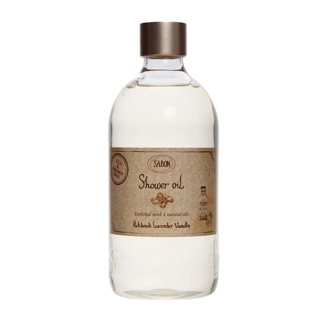 Shower Oil - Patchouli Lavender Vanilla (PET Bottle)