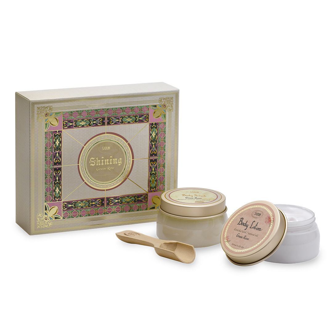 Shining Green Rose Gift Set